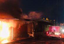 rumah yang yang terbakar di ruli Baloi Mas Indah, Lubuk Baja pada Rabu (08/09/2021) malam