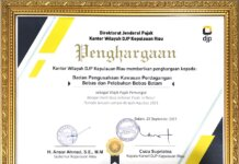 Penghargaan Setoran Pajak BP Batam. foto (ist)