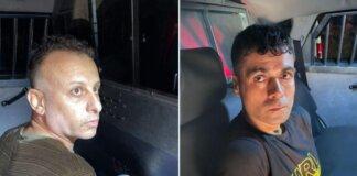 Dua dari enam narapidana yang melarikan diri dari penjara Gilboa, Yaquob Qadiri (kiri) dan Mahmoud al-Arida, terlihat setelah ditangkap kembali di kota utara Nazareth pada 10 September 2021 (Foto Polisi Israel via ToF)