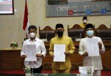 Rapat paripurna mengenai laporan Banggar Ranperda Perubahan APBD Kota Batam TA 2021 sekaligus pengambilan keputusan, di ruang sidang utama DPRD Kota Batam, Batamcentre, Jumat (10/9). (Ist)