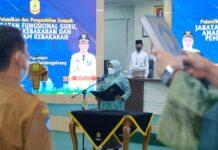 Prosesi pelantikan dilangsungkan di aula Sultan Sulaiman Badrul Almasyah, kantor wali kota Tanjungpinang, Kepri, Jumat (3/9/2021).