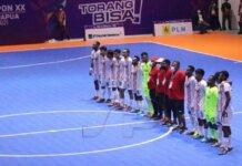 Tim futsal tuannrumah Papua Lolos ke semifinal futsal PON XX Papua usai kalahkan tim futsal Kepri skor 6-3. (Foto: Seputarpapua via RRI.co.id)