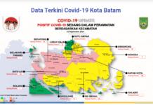 Peta sebaran Covid-19 di Kota Batam, Kepri, Rabu (22/9/2021). (Sumber: Satgas Covid-19 Kota Batam).