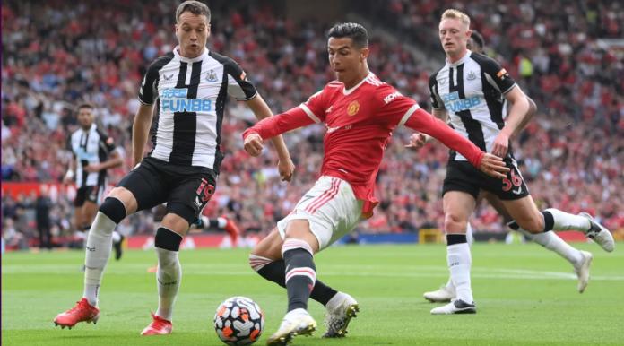 Cristiano Ronaldo langsung mencetak dua gol dalam kemenangan 4-1 atas Newcastle United di Old Trafford, Sabtu (11/9/2021). (premierleague.com)