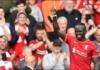 Sadio Mane mencatat rekor baru, yakni menjadi pemain pertama yang selalu mencetak gol dalam sembilan pertandingan beruntun atas lawan yang sama saat Liverpool mengalahkan Crystal Palace 3-0 di Anfield, Sabtu (18/9/2021). Dia lebih banyak satu laga dibandingkan Robin van Persie (vs Stoke City). (Foto: Premierleague.com)
