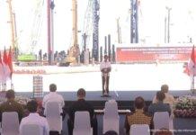 Presiden Jokowi mencanangkan pembangunan pembangunan Smelter PT Freeport Indonesia di Gresik Jawa Timur hari ini. (Istimewa)