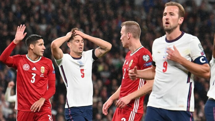 Harry Kane (kanan) tampil di bawah performa saat melawan Hungaria di Wembley yang berakhir imbang 1-1. Dia digantikan oleh tammy Abraham pada menit ke-76. (Foto dari Sky Sports)