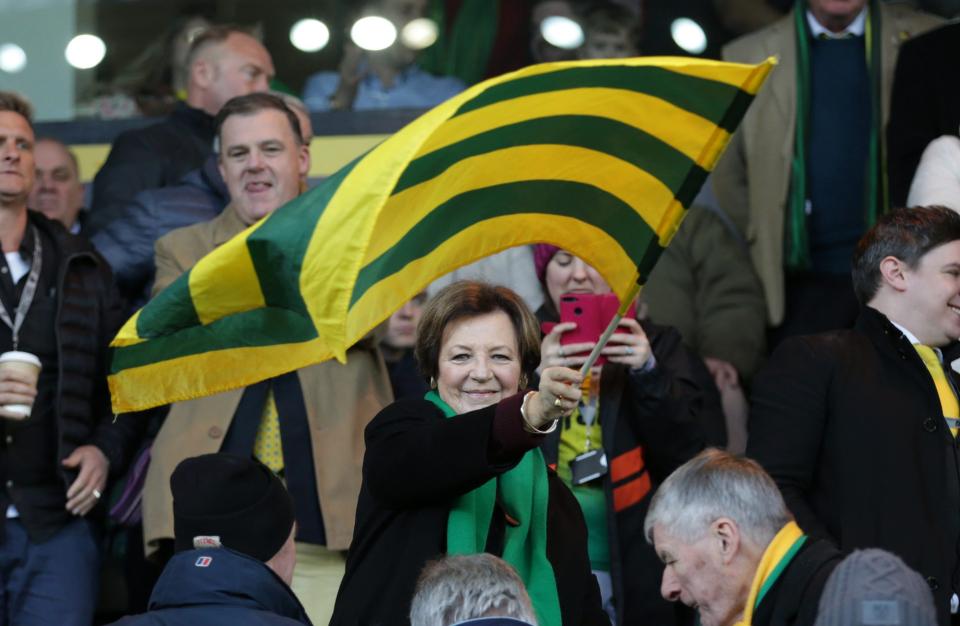 Delia Smith adalah salah satu pemilik Norwich City