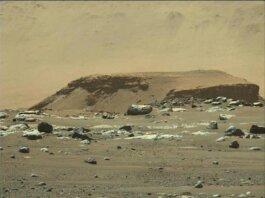 Wahana Perseverance menemukan jejak banjir bandang signifikan berupa batu-batuan yang diyakini terbawa banjir ke Kawah Jezero, Mars. (Foto: NASA)