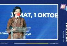 Menteri Keuangan (Menkeu) Sri Mulyani Indrawati secara resmi meluncurkan meterai elektronik atau e-meterai di Jakarta, Jumat (1/10/2021). (Foto: Kemenkeu).
