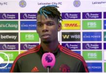 Paul Pogba mengatakan ada salah dengan Manchester United, setelah kekalahan 4-2 di kandang Leicester City, Sabtu (16/10/2021). (Foto dari Sky Sports)