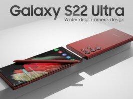 Render Samsung Galaxy S22 Ultra dengan desain kamera water drop (image: LetsGoDigital)