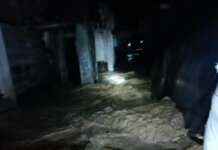 Foto : Kondisi banjir yang melanda Kabupaten Ogan Komering Ulu, Sumatera Selatan, Minggu (17/10/2021). (BNPB/Istimewa)