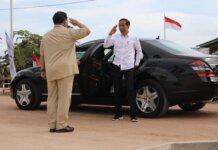 Foto Jokowi dan Prabowo saling hormat itu diunggah di akun Instagram @prabowo
