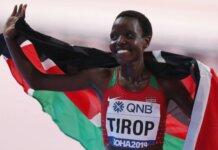 Pelari jarak jauh berusia 25 tahun Agnes Tirop mewakili Kenya dalam nomor 5.000m di Olimpiade Tokyo dan finis keempat di final. (Foto: Ibrahim Al Omari/Reuters via Guardian)