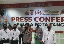 Kapolresta Tangerang Kabupaten, Kombes Pol Wahyu Sri Bintoro memberikan keterangan kasus curanmor. RRI.co.id)