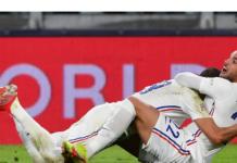 Theo Hernandez memberikan kemenangan untuk Les Bleus pada menit 90+1 lewat sepakan keras kaki kiri dari pinggir kotak. (Foto dari Sky Sports)