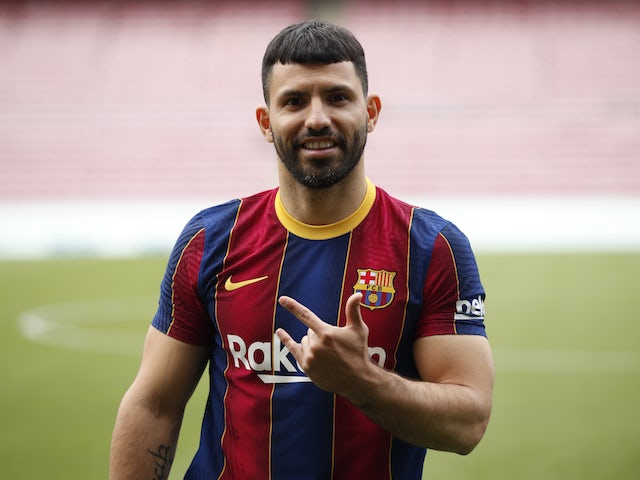 Penyerang Barcelona Sergio Aguero. (Sportsmole)