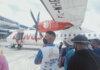 Wings Air penerbangan IW 1608 rute Mimika - Nabire mengalami delay akibat pesawat tersebut mengalami mati Air Conditioner (AC), Sabtu (16/10/2021). (Foto dari RRI.co.id)